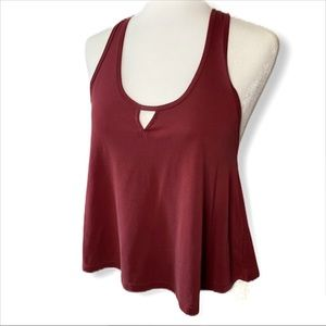 Forever 21 Racerback Tank Top Burgundy Size Small